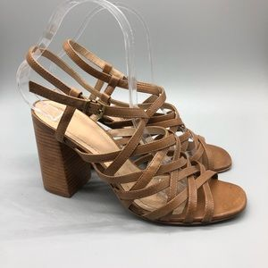 Johnston & Murphy brown Leah strappy sandals